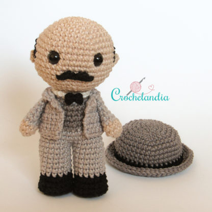Toy Art Amigurumi Hercule Poirot - by Crochelandia