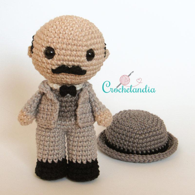 Toy Art Amigurumi Hercule Poirot - by Crochelandia