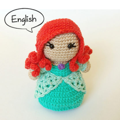 Toy Art Amigurumi Princess Ariel - by Crochelandia