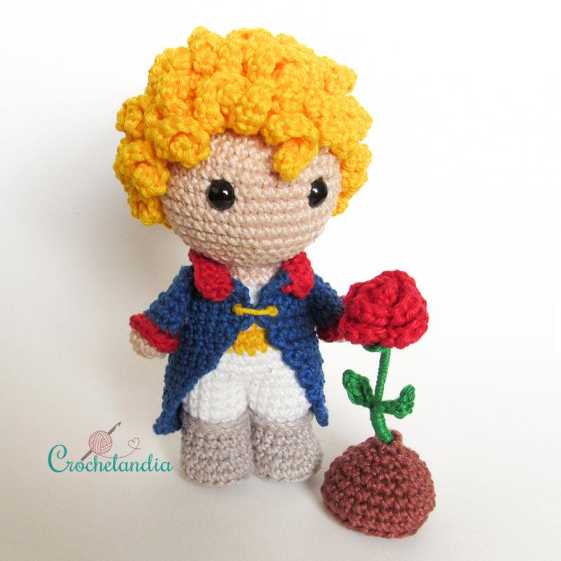 Toy Art Amigurumi O Pequeno Príncipe - by Crochelandia