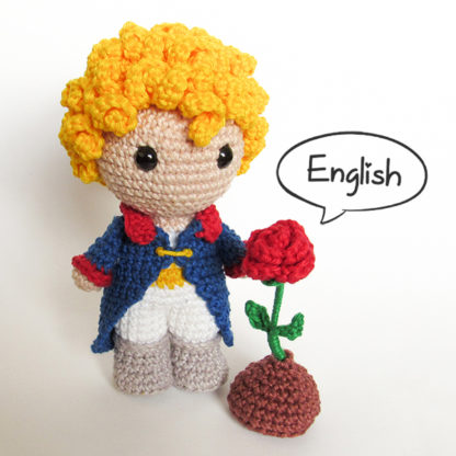 The Little Prince and The Rose Amigurumi - by Crochelandia
