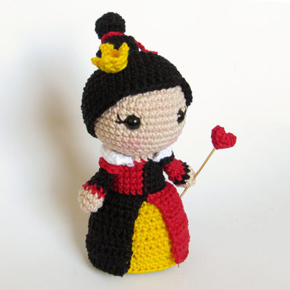 Toy Art Amigurumi Rainha de Copas - by Rose Nogueira e Luciene Malta